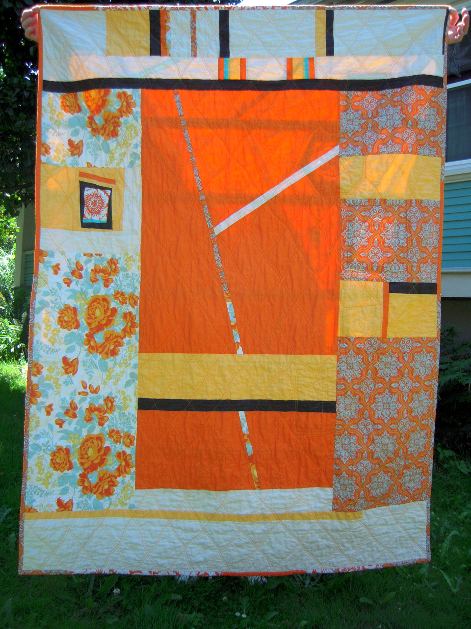 mgaladrielc and grey black orange on best images quilt halloween quilts gray pinterest