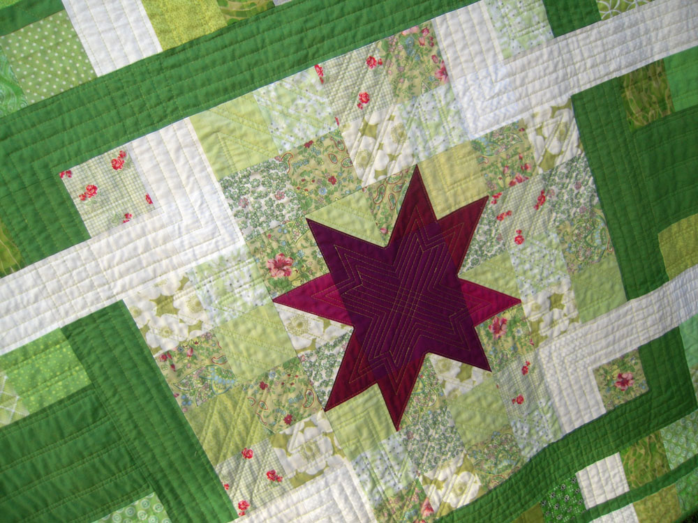 Detail of Green Gardens Quilt