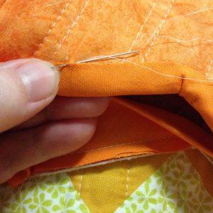Hand Stitching Binding